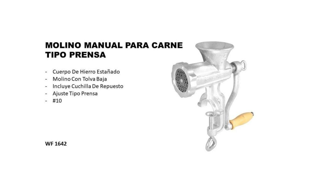 MOLINO MANUAL PARA CARNE TIPO PRENSA 10