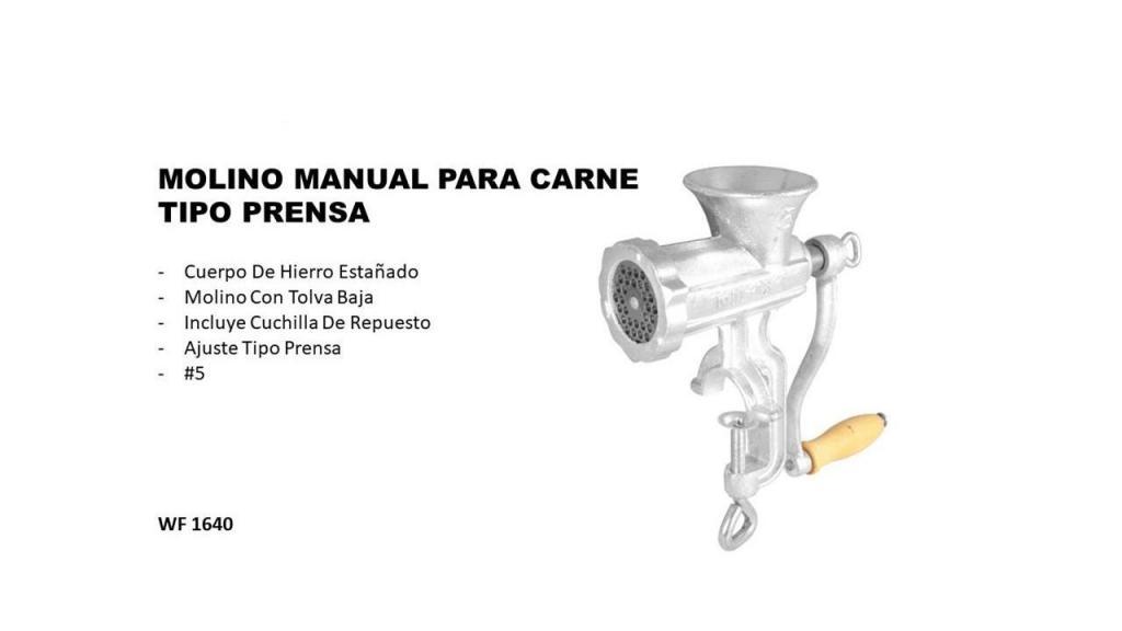 MOLINO MANUAL PARA CARNE TIPO PRENSA 5