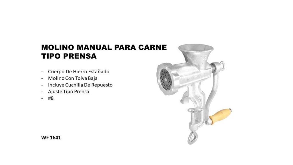 MOLINO MANUAL PARA CARNE TIPO PRENSA 8