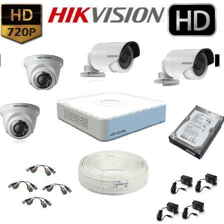 Pack de 4 Camaras de Seguridad HD con Disco Duro de 500GB