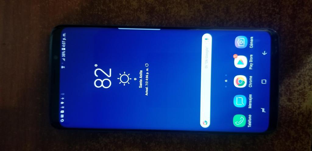 S9 Plus de EEUU azul con libre de fabrica equipo solo