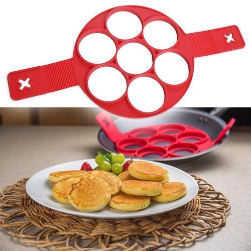 Molde de silicona 7 Panqueques blinis Tortillas