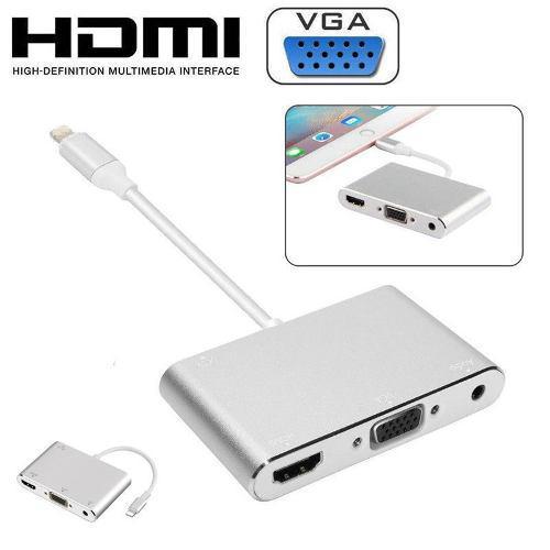 Adaptador Lightning A Vga + Hdmi Ipad Ipod Iphone 5 6 7 8 X