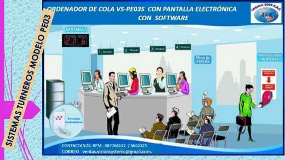 Atencion de colas con pantallas en Cusco