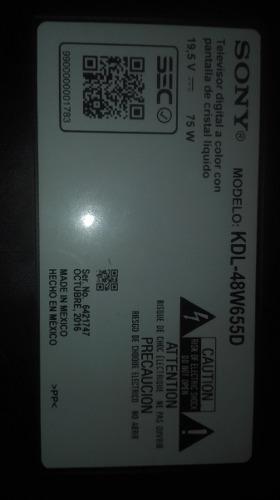 Tv Sony Bravia 48 [kdl-48w655d] Pantalla Rota Leer Detalle