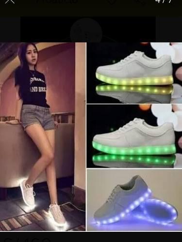 Zapatillas Cortas Y Botin Con Luces Led Control Remoto