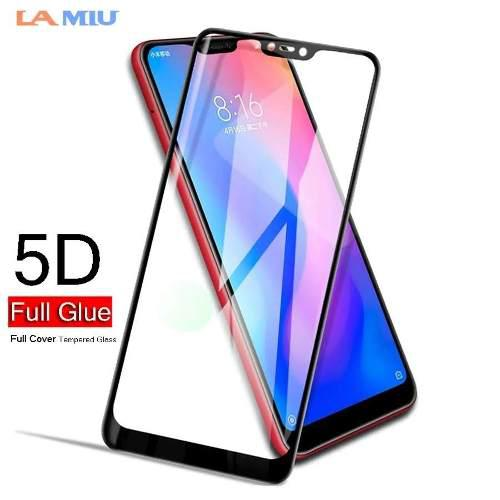 Mica De Vidrio 5 D / Protector / Xiaomi Mi 8 Lite - Negro