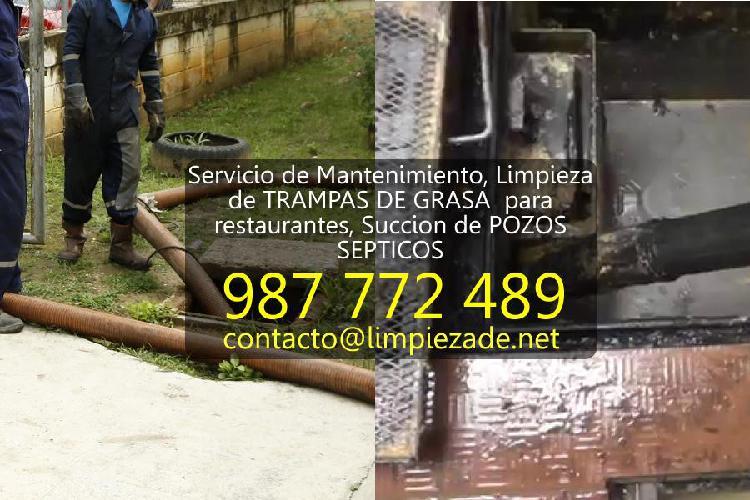 Servicio de Mantenimiento, LIMPIEZA de TRAMPAS DE GRASA para