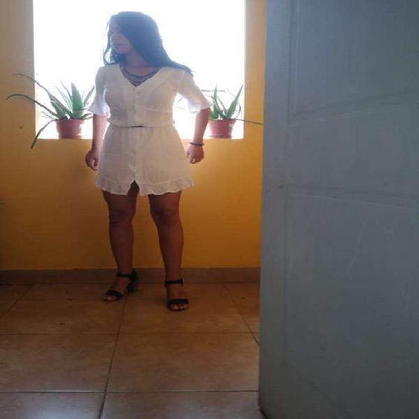 Vestido casual blanco nuevo y en oferta en Piura