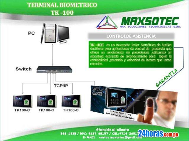 MAXSOTEC EIRL/RELOJ CONTROL DE ASISTENCIA TK-100 Y H8/LIMA