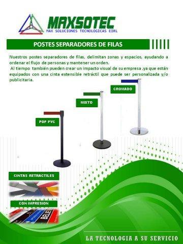 MAXSOTEC - Postes - Ordenadores de fila.