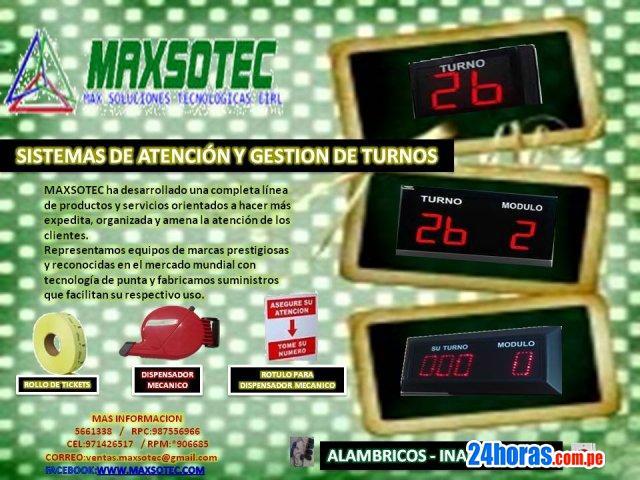 PANTALLAS ELECTRONICAS,LED / MAXSOTEC EIRL CONTACTENOS
