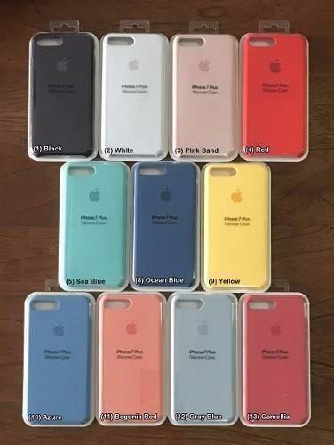 Protector Carcasa Case De Silicona Tipo Oem Iphone 8 Y Plus