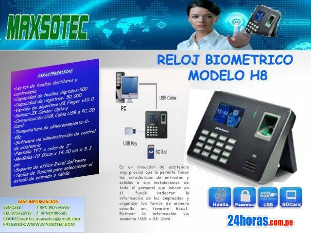 RELOJ CONTROL DE PERSONAL TK-100 Y H8 / MAXSOTEC EIRL