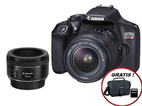 Camara Canon Eos T6 Kit Nuevo Sellado