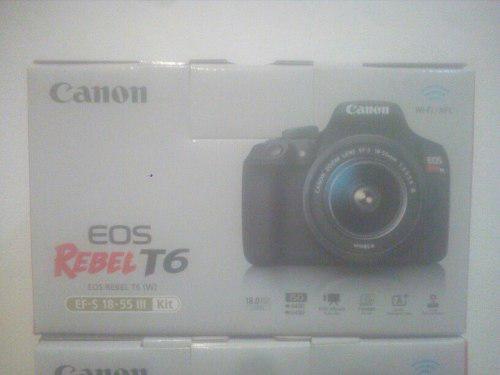 Camara Canon Eos T6 Nuevo Caja Sellada Garantia Canon Un