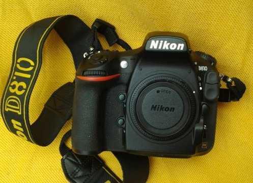 Camara Nikon D810 Cuerpo Solo,bateria,usada