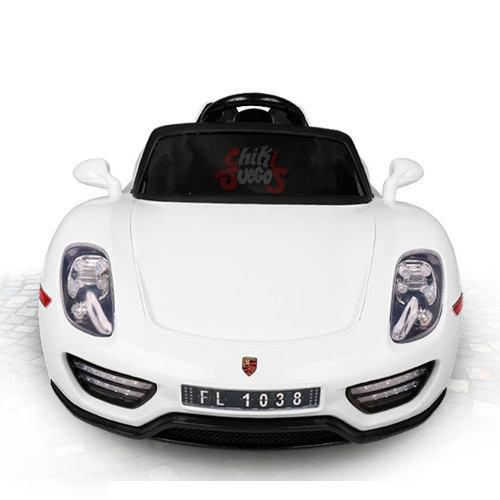 Carro A Bateria Porsche Spyder Con Emblemas Y Mp3