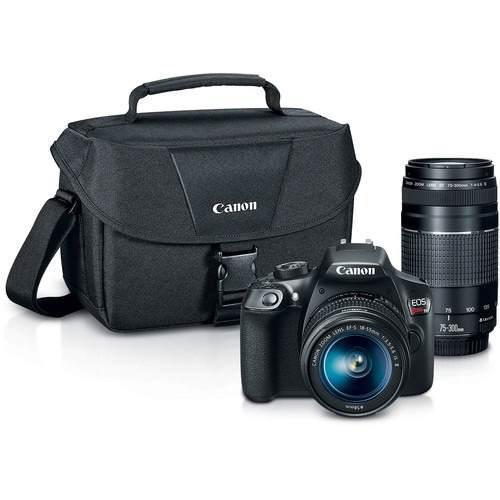 Cámara Canon Eos Rebel T6 + 18-55mm + 75-300mm + Regalos