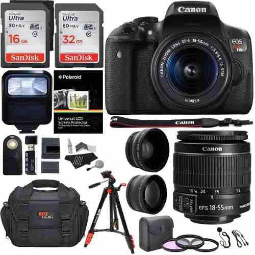 Cámara Canon Eos Rebel T6i 24.2 + Accesorios Garantía De