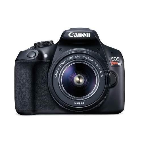 Kit Camara Canon Eos Rebel T6 Lente 18-55mm + Lente 75-300mm