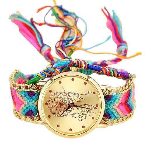 Reloj Pulsera Mujer Atrapasueños Trenzada 2018 Moda Casual