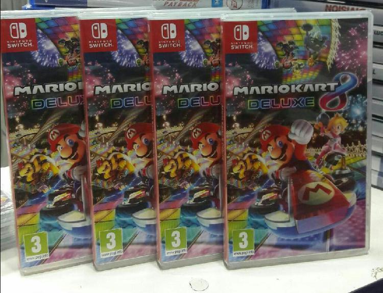 Mario Kart 8 Deluxe Nintendo Switch Nuevo y Sellado Stock