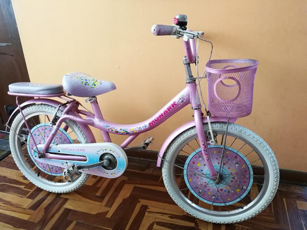 Bicicleta Monark Rosado para Niña Aro 20