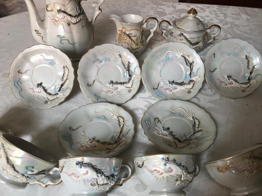 Juego de té de porcelana china royal
