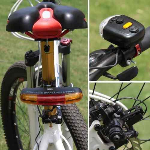 Pack Luces Con Direccionales Luz, Stop timbres Bicicleta.