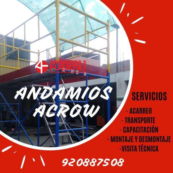 Andamios acrow venta y alquiler en Lima