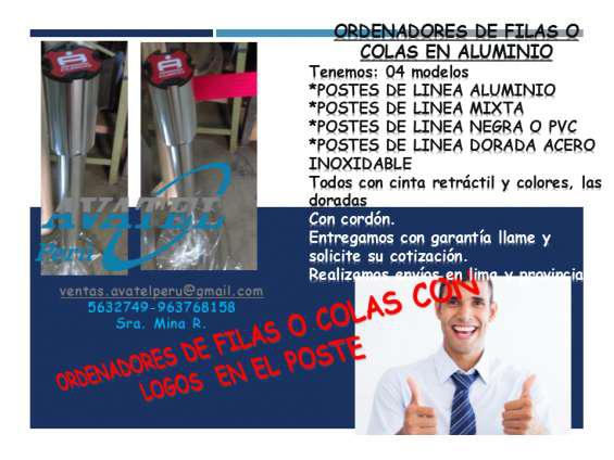 Postes de filas para ordenar las colas en Cusco