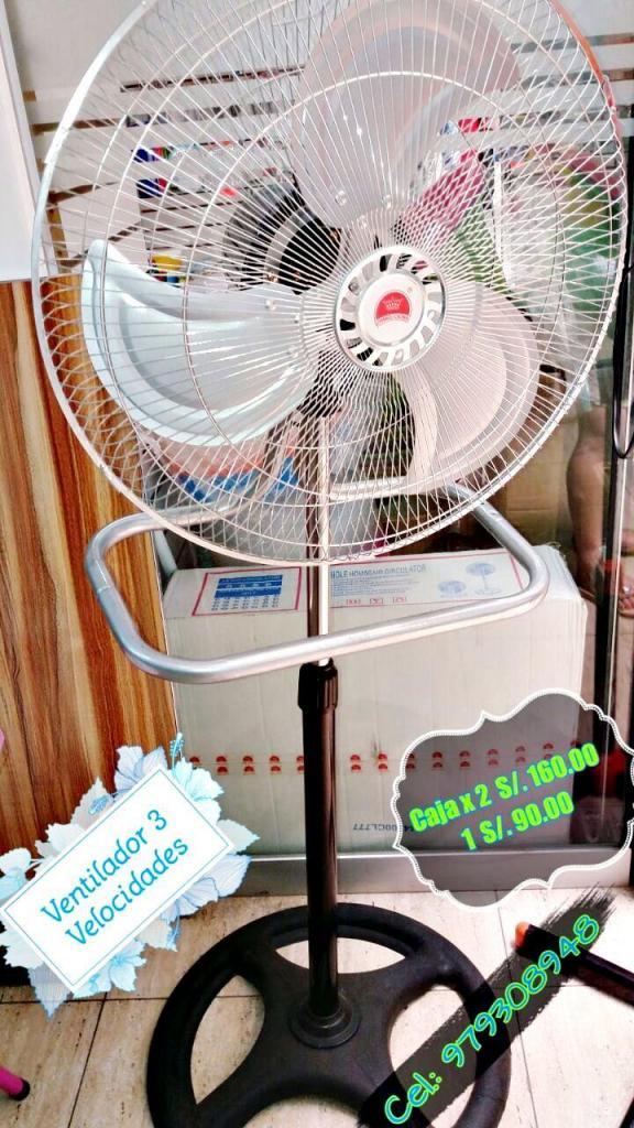 VENTILADOR 200 Watts 3 VELOCIDADES: PEDESTAL, TECHO Y PARED