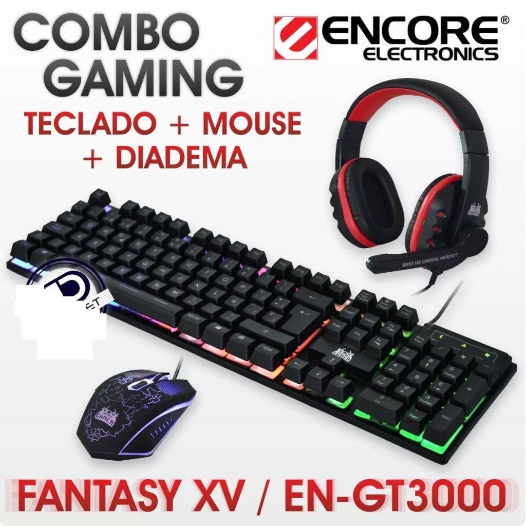Kit Gamer 3 En 1 Mouse, Teclado, Audifono C/ Micro Encore