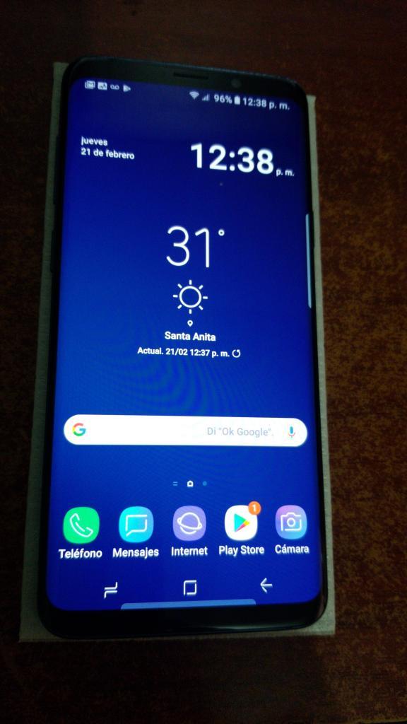 Samsung Galaxy S9 color Azul de 64gb,impecable,libre de