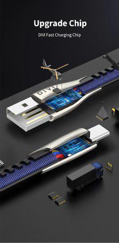 Cable Usb Tipo C Plano Largo De 1.88m Carga Rápida 5a