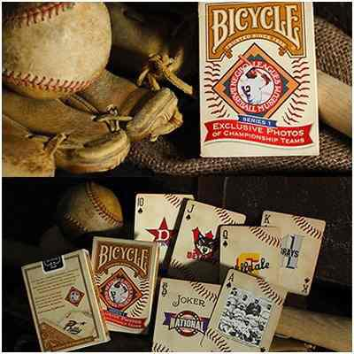 Cartas Bicycle Baraja De Mago Magia Negro Baseball Leagues