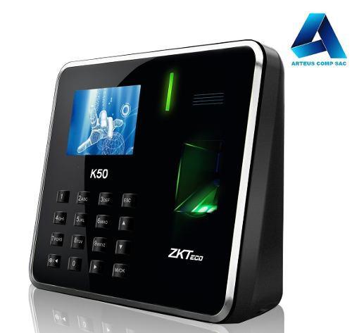 Control De Asistencia Y Acceso - Con Bateria - Zkteco K50