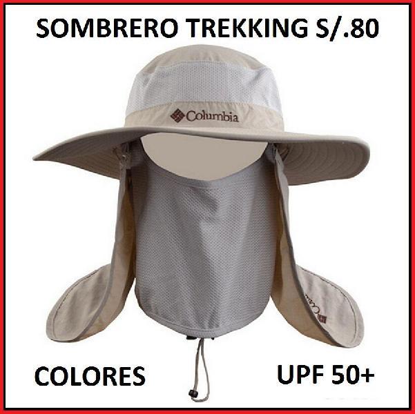 Sombrero pesca trekking protege cuello y rostro pescar y 20e22d68474