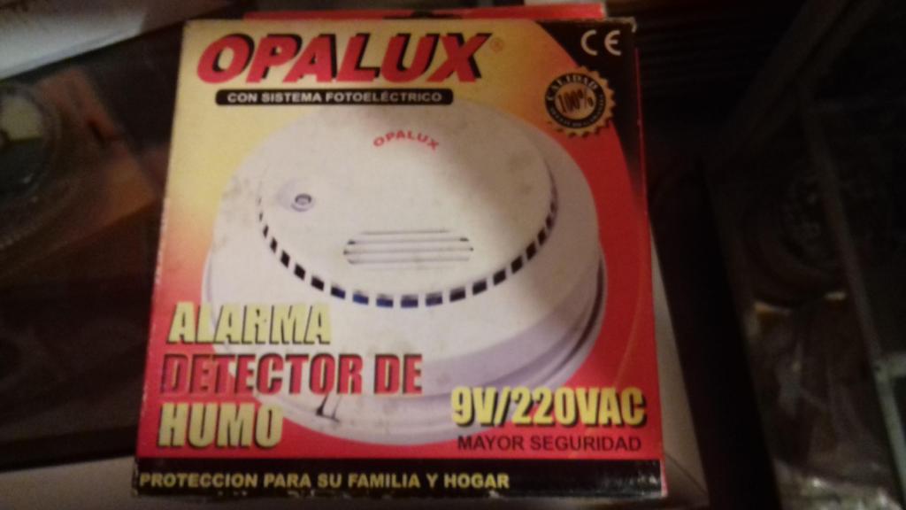 Alarma Detector de Humo Opalux