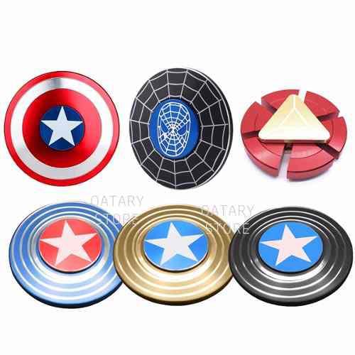 Fidget Spinner Capitan America Spiderman Ironman Marvel Hero