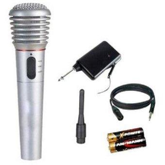 Micrófono Inalambrico Cable Para Karaoke En Casa