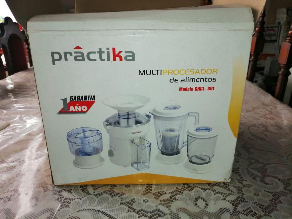 Multiprocesador de Alimentos Nuevo Practika