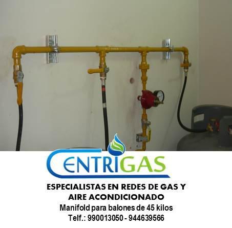 Fabricamos e instalamos manifold para balones de gas de 45