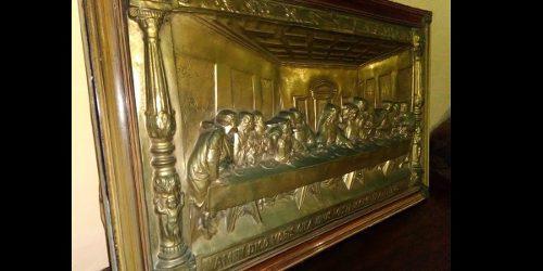 La Ultima Cena De Cristo Grande Orijinal Plaket Italiana