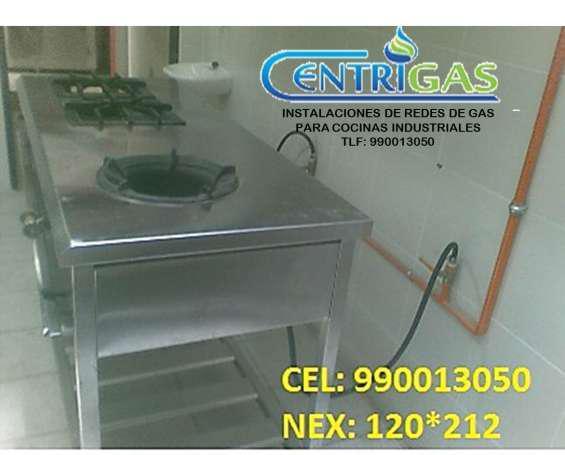 instalación de equipos para cocinas industriales en Lima
