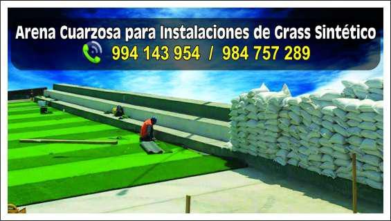 Arenas fifa para grass sintético en Lima