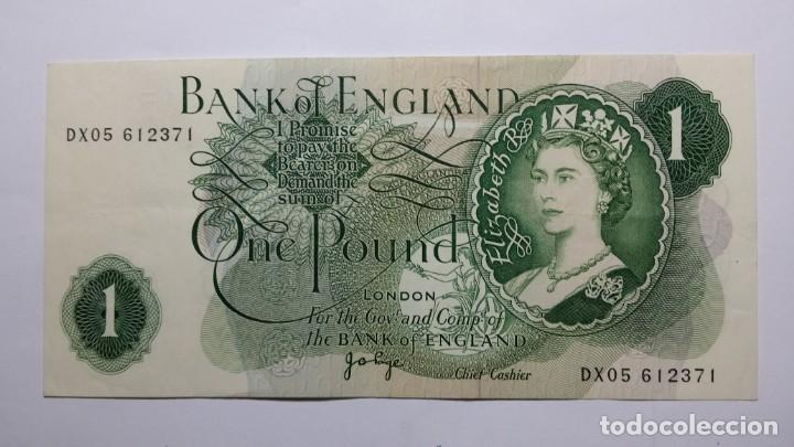 BILLETE 1 LIBRA ESTERLINA BANK OF ENGLAND