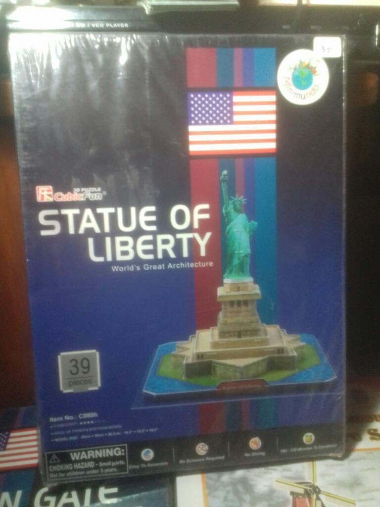 Rompecabezas 3d: Estatua de La Libertad