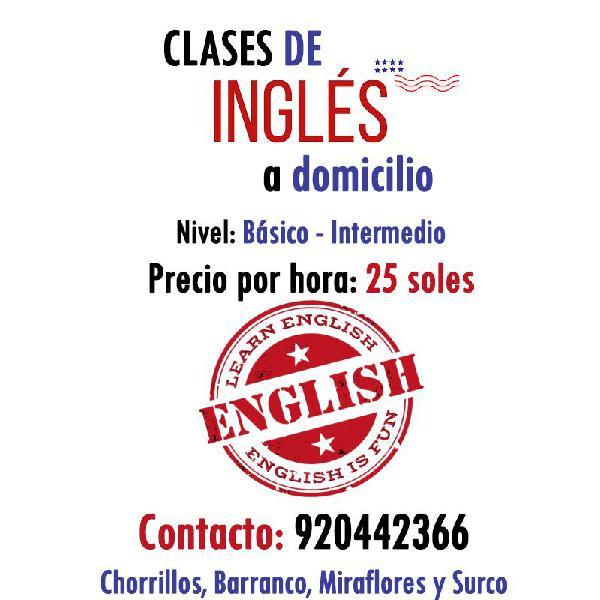 Clases particulares de Inglés para niños en Lima